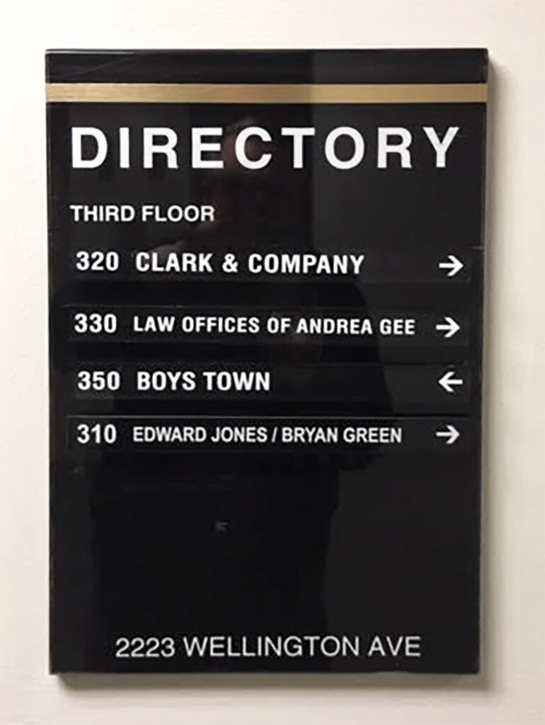 Directory Signs for Buildings