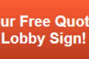 Free quote on backlit lobby signs