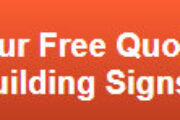 Free quote on building signs